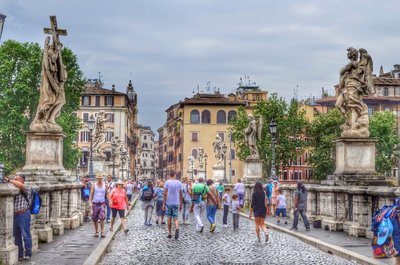 St Angelo bridge. HDR.