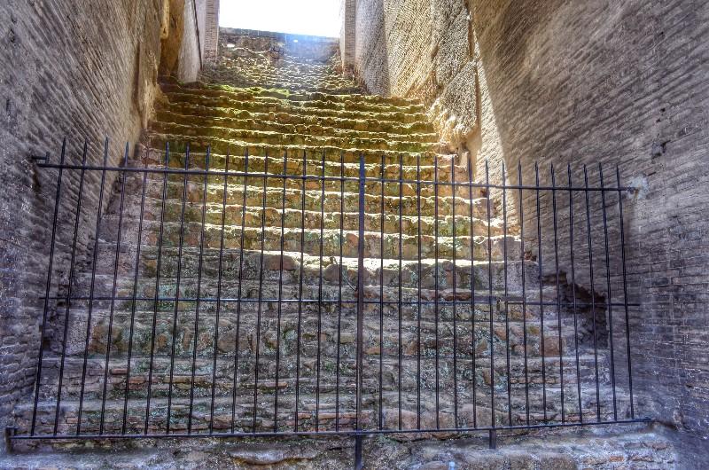 Colosseum steps. HDR.