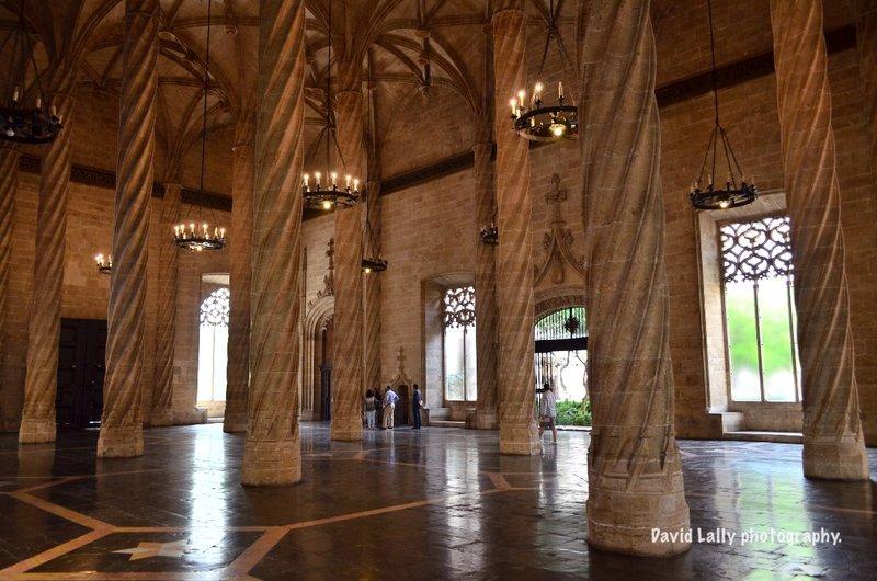 Valencia's silk market interior.