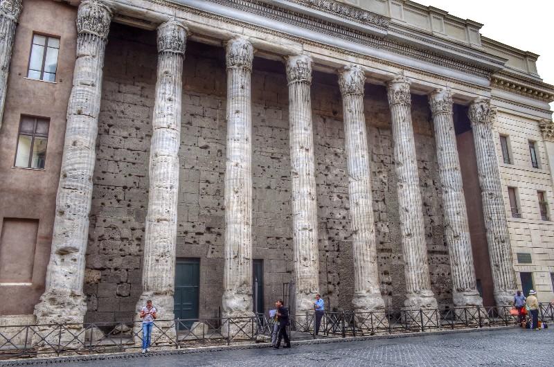 Hadrian's temple.