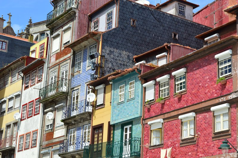 Colourful Ribeira district.