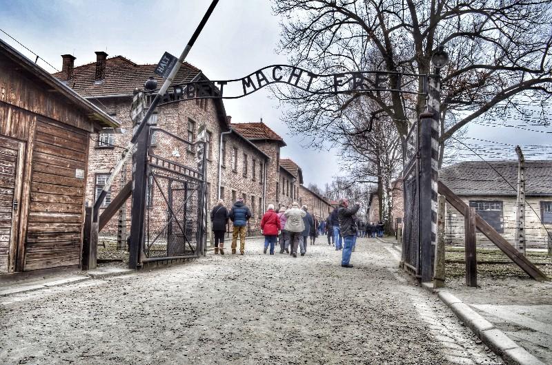 Auschwitz I entrance.