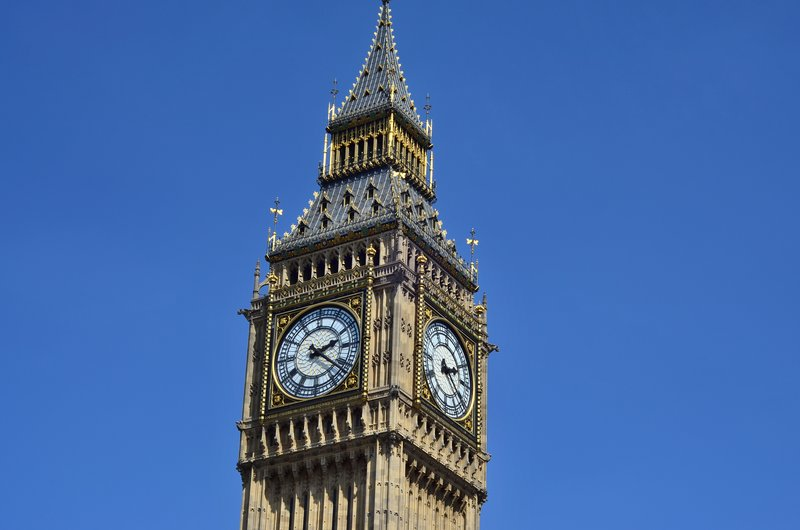 Big Ben clockface.