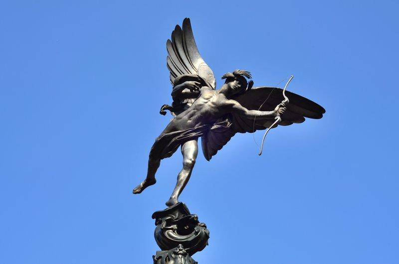 Eros statue.