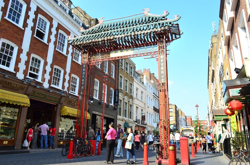 China town gate.