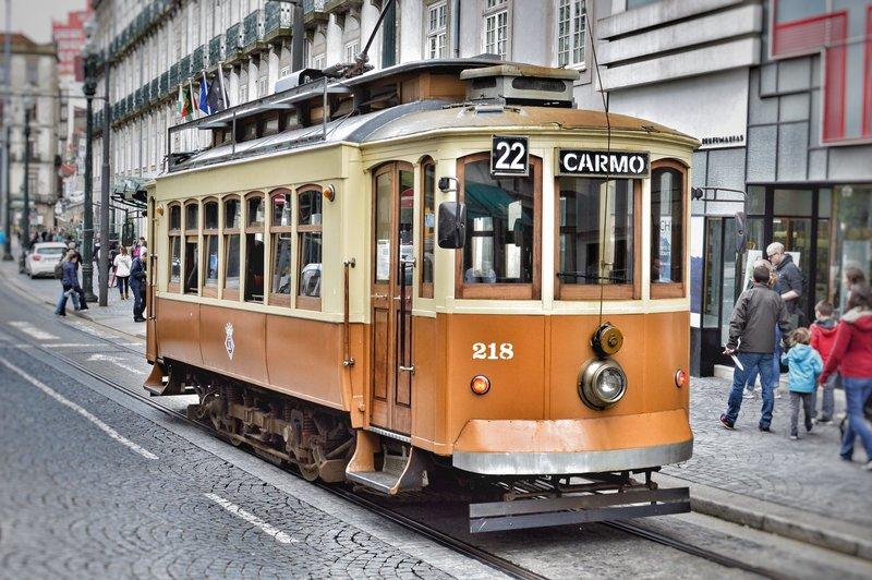 City-centre tram.