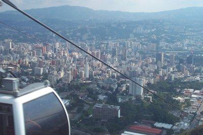 The view in the Teleferico