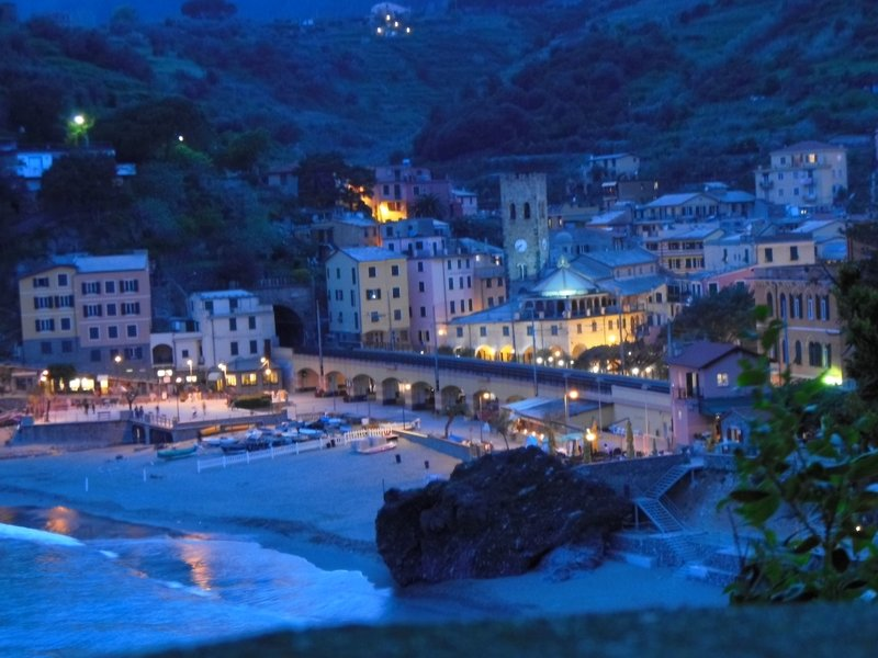 Monterosso at night
