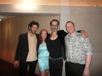 Andy & Zoe with Simon Day and Ruben!