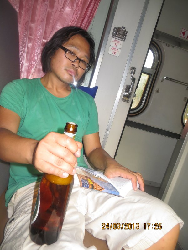 Long train to Bangkok