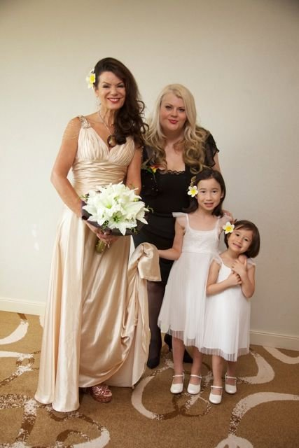 Sue & Lisa with Flower Girls