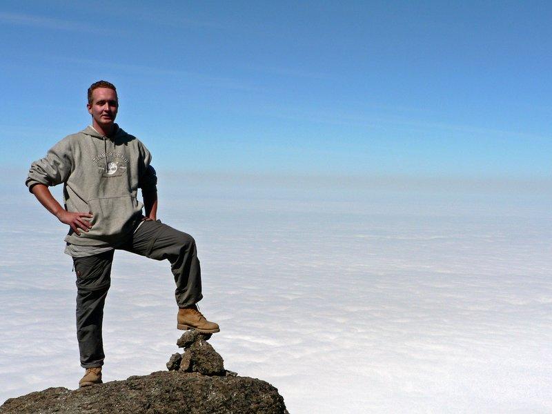 halfway the Kilimanjaro, 4550 m.