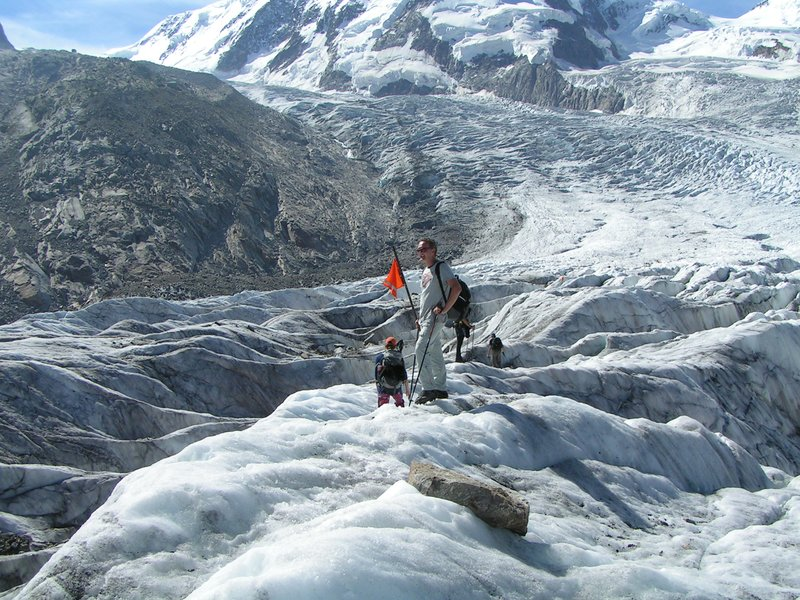 me on the Monterosa Glacier