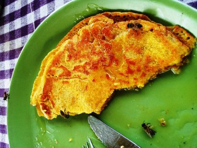 Cornflour Pancakes with Honey