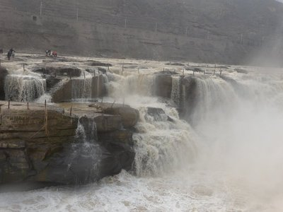 Hukou Waterfall. Watch the firece waterflow