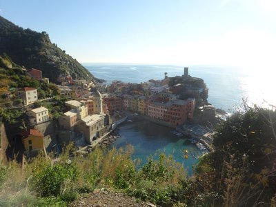 Village of Vernazza, from a trekking angle