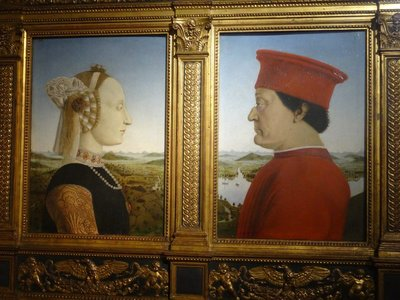 Potrait of Duke & Duchess of Urbino, Uffizi Gallery