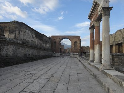 Well preserved ruins of Pompeii