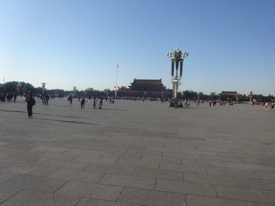 Tiananmen Square - with big flag of China in background