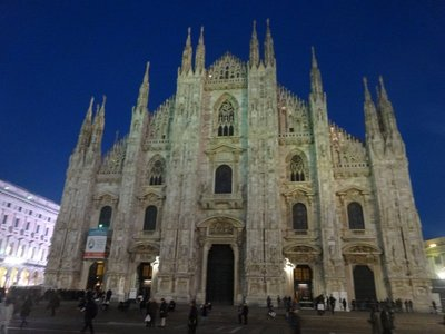 Milan Duomo, with the beautiful night sky