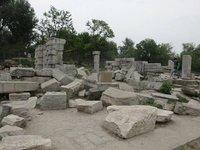Ruins of YuanMingYuan - humiliating reminder of Imperial China defeat