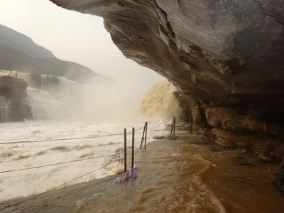 Hukou Waterfall. View from the base