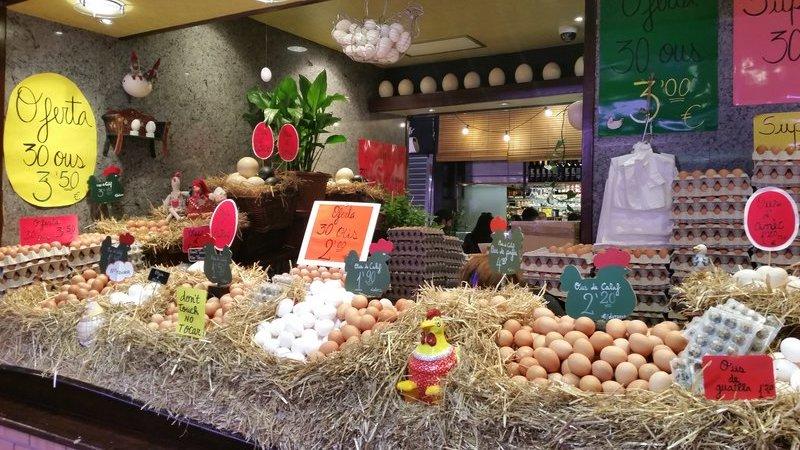 fresh egg stall Barcelona