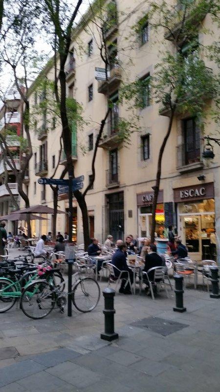 outdoor cafe Barcelona