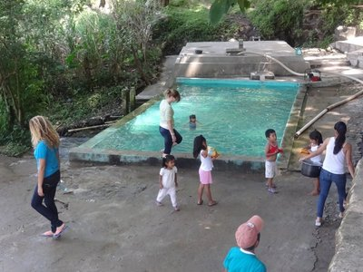 Several times we got to take the kids to the pool about 20 minutes away on foot. This pool gets it's water from the mountain, and is always flowing.