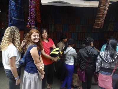 A group from Rochester, NY came down the last 10 days I was in Guatemala, and we all took the four older girls from the home an hour away to Quiche's Market to pick out fabric for quilts we made.