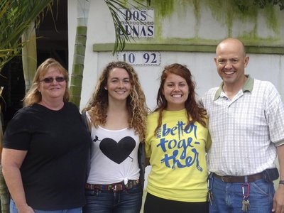 The morning I left for the sates, I got a picture with the two missionaries I was able to serve and Amanda.