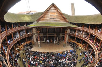 Globe theater inside