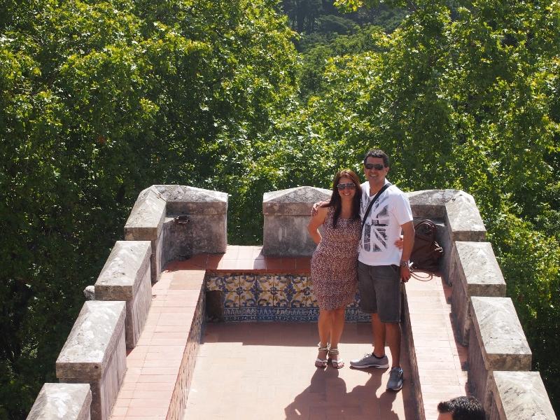 Glaucia and Cezar at the Palacio da Pena