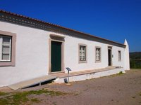 Medieval fortified farmhouse at site of Roman villa, Milreu, Estoi, Algarve.