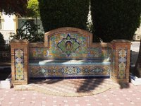 Benches in the plaza, Ayamonte