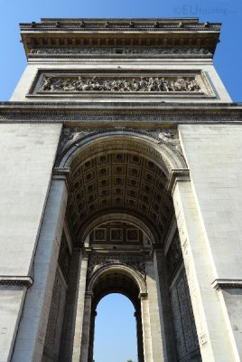 Side of the Arc de Triomphe