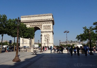 Arc de Triomphe from the path