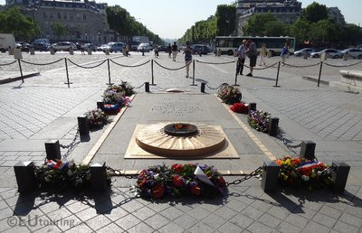 Tomb of the Unknown Soldier at Arc de Triomphe