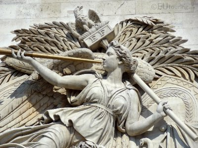 Sculpture on the column of the Arc de Triomphe