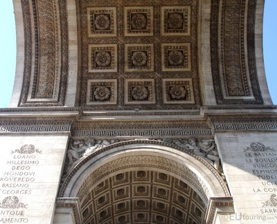 Underneath of the Arc de Triomphe