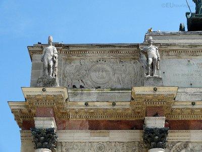 Details in the corner of the Arc de Triomphe du Carrousel