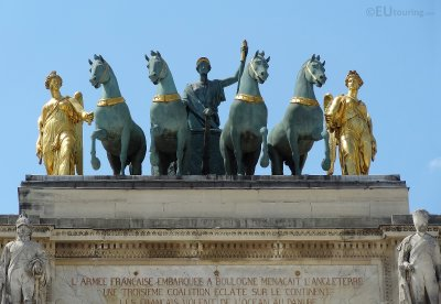 Quadriga statue on the Arc de Triomphe du Carrousel