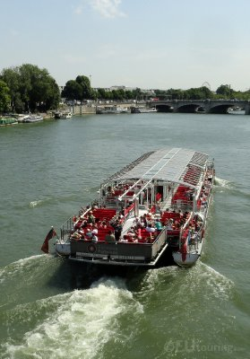Trimaran boat tour through Paris