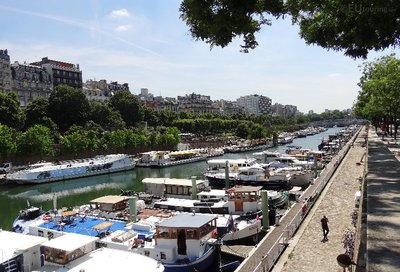 View down the Canal Saint Martin