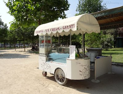 Ice cream stand within the park