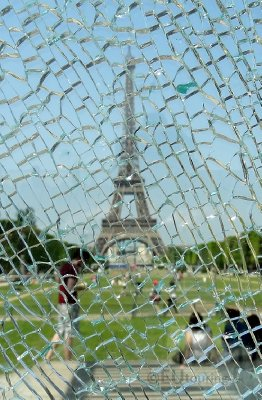 Through broken glass to the Eiffel