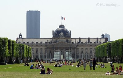 Ecole Militaire at the end of the park