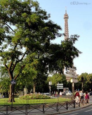Eiffel from Place des Martyrs Juifs du Velodrome D'Hiver