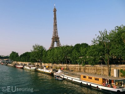 View from the River Seine bank