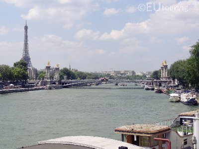 Eiffel Tower from over the River Seine